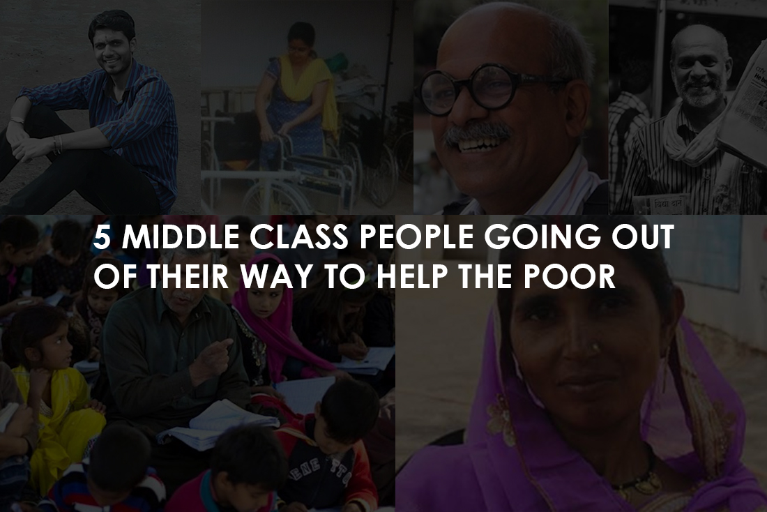 5 middle class people going ...